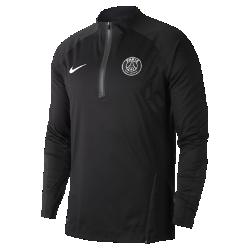Мужская игровая футболка с длинным рукавом Nike AeroShield Paris Saint-Germain Strike DrillМужская игровая футболка с длинным рукавом Nike AeroShield Paris Saint-Germain Strike Drill защищает от непогоды, не допуская перегрева. Революционная технология Nike AeroShield обеспечиваетзащиту от ветра и дождя, а разрезы спереди и сзади помогают отводить излишки тепла.<br>