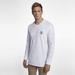 Мужская футболка с длинным рукавом Hurley PeliМужская футболка с длинным рукавом Hurley Peli из первоклассной ткани обеспечивает комфорт на весь день.<br>