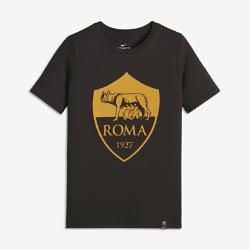 Футболка для мальчиков школьного возраста A.S. Roma CrestФутболка для мальчиков школьного возраста A.S. Roma Crest из мягкого комфортного хлопка с градиентным принтом украшена яркой символикой команды.<br>