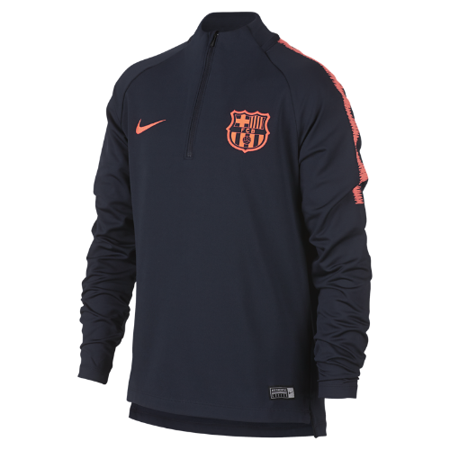 FC バルセロナ Dri-FIT スクワッド ジュニア ロングスリーブ サッカートップ 943181-452 ブルー <セール商品がさらに20%OFF!5/8まで>