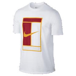 Мужская футболка NikeCourt Heritage LogoМужская футболка NikeCourt Heritage Logo из прочного чистого хлопка обеспечивает комфорт на весь день.<br>
