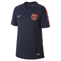 Игровая футболка с коротким рукавом для школьников FC Barcelona Nike Breathe SquadИгровая футболка с коротким рукавом для школьников FC Barcelona Nike Breathe Squad из влагоотводящей ткани обеспечивает циркуляцию воздуха для охлаждения и комфорта во время игры в футбол.<br>