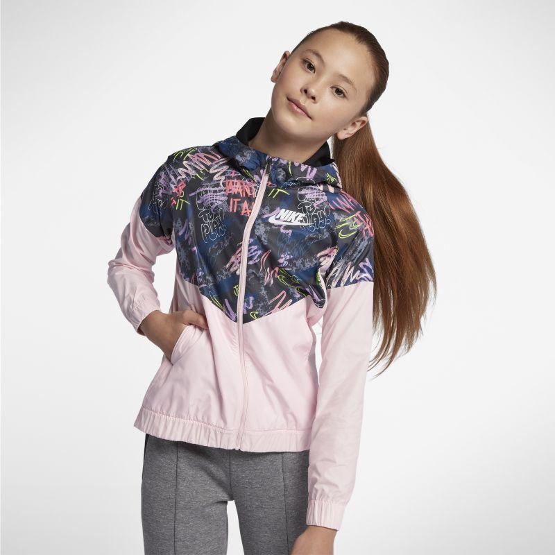 Nike Sportswear Windrunner Older Kids'(Girls') Printed Jacket - Pink Image