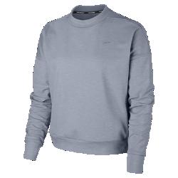 Женская беговая футболка с длинным рукавом Nike ElementЖенская беговая футболка с длинным рукавом Nike Element из термоткани с заниженной линией плеча обеспечивает тепло и комфорт на пробежке в холодную погоду.<br>