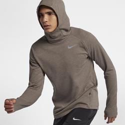 Мужская беговая футболка с длинным рукавом Nike ElementМужская беговая футболка с длинным рукавом Nike Element из термоткани с рукавами покроя реглан обеспечивает тепло и свободу движений во время пробежки.<br>