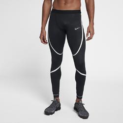 Мужские беговые тайтсы Nike TechМужские тайтсы для тренинга Nike Tech из влагоотводящей компрессионной ткани обеспечивают комфорт и поддержку во время тренировки.<br>