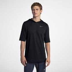 Мужская беговая худи с коротким рукавом Nike TailwindМужская беговая худи Nike Tailwind из влагоотводящей сетчатой ткани с капюшоном и коротким рукавом обеспечивает легкость и защиту во время пробежки.<br>