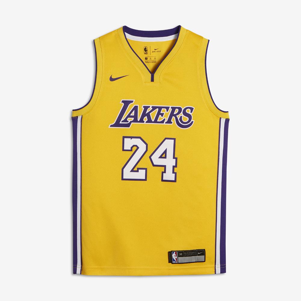 Kobe Bryant Nike Swingman (Los Angeles Lakers) Big Kids  NBA Jersey Size XL  (Gold) b10f5b615