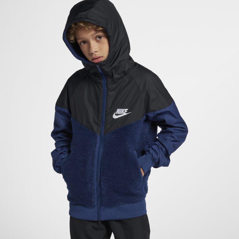 Nike Sportswear Windrunner Boys Sherpa Jacket - Blue