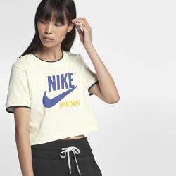 Женская футболка с коротким рукавом Nike Sportswear ArchiveЖенская футболка с коротким рукавом Nike Sportswear Archive обеспечивает комфорт на весь день благодаря комфортной ткани и укороченному крою.<br>
