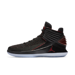 """Мужские баскетбольные кроссовки Air Jordan XXXII """"Bred""""Мужские баскетбольные кроссовки Air Jordan XXXII """"Bred"""" с верхом из легкого дышащего материала Flyknit обеспечивают плотную посадку и превосходную амортизацию для взрывногостарта на площадке.Эта версия модели вдохновлена культовой красно-черной расцветкой, воплощающей философию бренда Jordan.  Легкость и поддержка  Дышащий материал Flyknit создает зоны эластичности и поддержки там, где это необходимо, повторяя форму стопы для комфорта и легкости.  Мгновенная амортизация  Низкопрофильная система амортизации Nike Zoom Air в области пятки и передней части стопы для легкости и упругости.  Взрывной шаг  Технология FlightSpeed равномерно распределяет нагрузку на вставку Nike Zoom Air в передней части стопы. Это обеспечивает максимальную амортизацию для взрывных движений.<br>"""