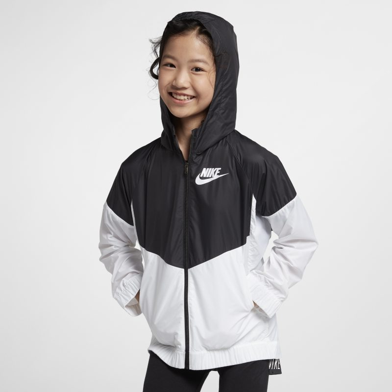 Nike Sportswear Windrunner Older Kids (Girls ) Jacket - Black ... 800d0e33816
