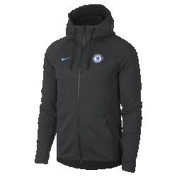 Мужская куртка Chelsea FC Tech Fleece WindrunnerМужская куртка Chelsea FC Tech Fleece Windrunner сохранила классические элементы оригинальной модели для бега: шеврон на груди и гладкий флис, обеспечивающий легкость и тепло в любой ситуации.<br>
