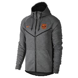Мужская куртка FC Barcelona Tech Fleece WindrunnerМужская куртка FC Barcelona Tech Fleece Windrunner сохранила классические элементы оригинальной модели для бега: шеврон на груди и гладкий флис, обеспечивающий легкость и тепло влюбой ситуации.<br>