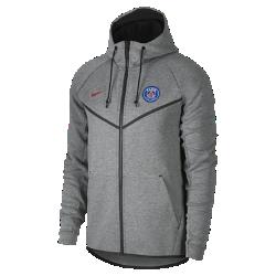Мужская куртка Paris Saint-Germain Tech Fleece WindrunnerМужская куртка Paris Saint-Germain Tech Fleece Windrunner сохранила классические элементы оригинальной модели для бега: шеврон на груди и гладкий флис, обеспечивающий легкость и тепло в любой ситуации.<br>