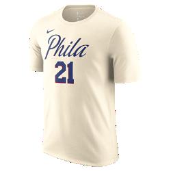 Мужская футболка НБА Joel Embiid Philadelphia 76ers City Edition Nike DryМужская футболка НБА Joel Embiid Philadelphia 76ers City Edition Nike Dry из влагоотводящей ткани Nike Dry с уникальной графикой в стиле команды обеспечивает комфорт на каждый день.<br>