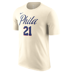 Joel Embiid Philadelphia 76ers City Edition Nike Dry Men's NBA T-Shirt