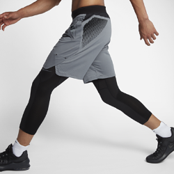 Мужские баскетбольные шорты Nike AeroSwift 23 смМужские баскетбольные шорты Nike AeroSwift 23 см из легкой эластичной ткани с зонами вентиляции обеспечивают охлаждение и свободу движений во время игры.<br>