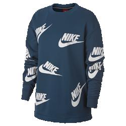Женский свитшот с логотипом Nike SportswearЖенский свитшот с логотипом Nike Sportswear из мягкого смесового хлопка обеспечивает тепло и комфорт.<br>