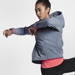 Женская худи для тренинга с молнией во всю длину Nike ThermaЖенская худи для тренинга с молнией во всю длину Nike Therma из влагоотводящей термоткани обеспечивает тепло и комфорт во время тренировок в холодную погоду.<br>