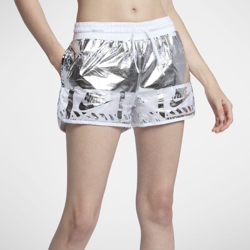 Nike Sportswear Women's Metallic Shorts - Silver Image