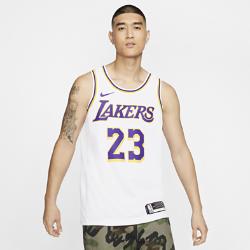 <ナイキ(NIKE)公式ストア>レブロン ジェームズ アソシエーション エディション スウィングマン (ロサンゼルス・レイカーズ) メンズ ナイキ NBA コネクテッド ジャージー AA7101-111 ホワイト画像