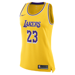 <ナイキ(NIKE)公式ストア>レブロン ジェームズ アイコン エディション スウィングマン (ロサンゼルス・レイカーズ) ウィメンズ ナイキ NBA コネクテッド ジャージー AA7125-736 イエロー画像