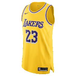 <ナイキ(NIKE)公式ストア>レブロン ジェームズ アイコン エディション オーセンティック (ロサンゼルス・レイカーズ) メンズ ナイキ NBA コネクテッド ジャージー AA7265-735 イエロー画像