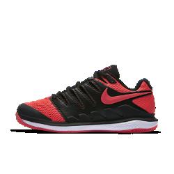 Женские теннисные кроссовки Nike Air Zoom Vapor XБлагодаря системе Dynamic Fit и каркасу во всю длину женские теннисные кроссовки Nike Air Zoom Vapor X обеспечивают непревзойденный контроль движений во время игры. Вставка Nike Zoom Air создает низкопрофильную амортизацию при скоростных пробежках по корту и резкой смене направления.<br>