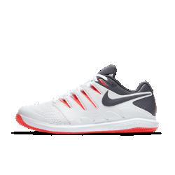 Мужские теннисные кроссовки NikeCourt Air Zoom Vapor XБлагодаря системе Dynamic Fit и вставке Nike Zoom Air мужские теннисные кроссовки NikeCourt Air Zoom Vapor X обеспечивают непревзойденный контроль движений во время игры. Надежная посадка  Система Dynamic Fit обхватывает стопу от области шнуровки до нижней точки свода стопы, обеспечивая плотную посадку.  Мгновенная амортизация  Вставка Zoom Air в области пятки обеспечивает упругую низкопрофильную амортизацию при каждом движении.  Быстрая стабилизация  Каркас из материала TPU охватывает внешнюю часть стопы по всей длине для дополнительной стабилизации при каждом движении.<br>