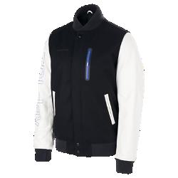 Мужская куртка Nike SB x Soulland DestroyerМужская куртка Nike SB x Soulland Destroyer с обновленным классическим силуэтом из смесовой шерсти и рукавами из первоклассной кожи обеспечивает тепло и комфорт.<br>