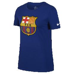 Женская футболка FC Barcelona CrestЖенская футболка FC Barcelona Crest из мягкого хлопка обеспечивает длительный комфорт на трибунах и на улице.<br>