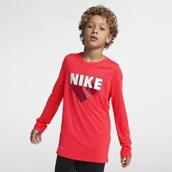<ナイキ(NIKE)公式ストア>ナイキ Dri-FIT レジェンド ジュニア (ボーイズ) ロングスリーブ トレーニング Tシャツ AA8896-671 レッド