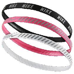<ナイキ(NIKE)公式ストア>ナイキ プリンテッド ハザード ストライプ アソーテッド ヘッドバンド (3本) AC9669-918 ピンク画像