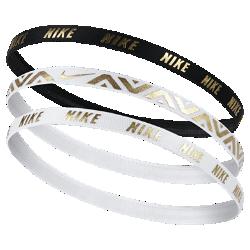 【ナイキ(NIKE)公式ストア】 ナイキ メタリック ヘアバンド (3本) AC9673-912 ゴールド