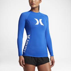 Женская футболка для серфинга с длинным рукавом Hurley One And OnlyЖенская футболка для серфинга с длинным рукавом Hurley One And Only с плоскими швами и фактором защиты от УФ-излучения 50+ обеспечивает комфорт и защиту от солнца.<br>