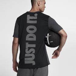 Мужская футболка для тренинга Nike DryМужская футболка для тренинга Nike Dry из влагоотводящей ткани обеспечивает комфорт во время тренировки.<br>