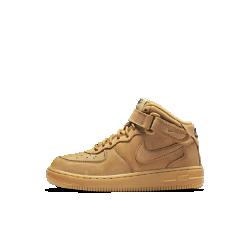 Кроссовки для дошкольников Nike Air Force 1 Mid WBКроссовки для дошкольников Nike Air Force 1 High WB вдохновлены внешним видом и функциональностью прочных рабочих ботинок. Высокий бортик, регулируемый ремешок в области голеностопа и легкий амортизирующий пеноматериал обеспечивают комфорт на весь день.<br>