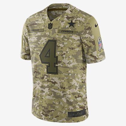 5d462c8cd NFL Dallas Cowboys Salute to Service Limited Jersey (Dak Prescott)