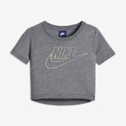 Футболка с коротким рукавом для девочек школьного возраста Nike SportswearУкороченная футболка для девочек школьного возраста Nike Sportswear из невероятно мягкой ткани обеспечивает комфорт на весь день в любой ситуации.<br>