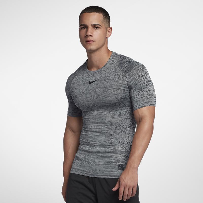 e0b1265511 Nike Pro Men s Training Top - Grey Image