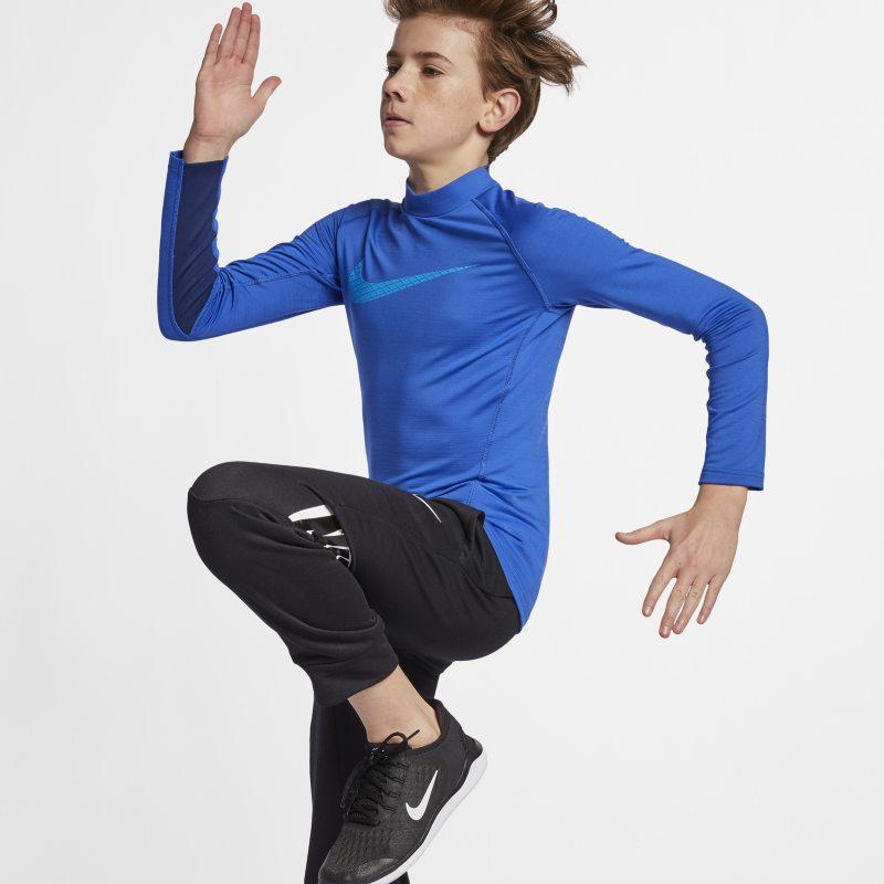 b357c2fd0 Nike Pro Warm Older Kids'(Boys') Long-Sleeve Training Top - Blue ...