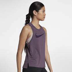 Женская беговая майка Nike MilerЖенская беговая майка Nike Miler из влагоотводящей ткани со вставкой из сетки на спине обеспечивает охлаждение и комфорт во время бега.<br>