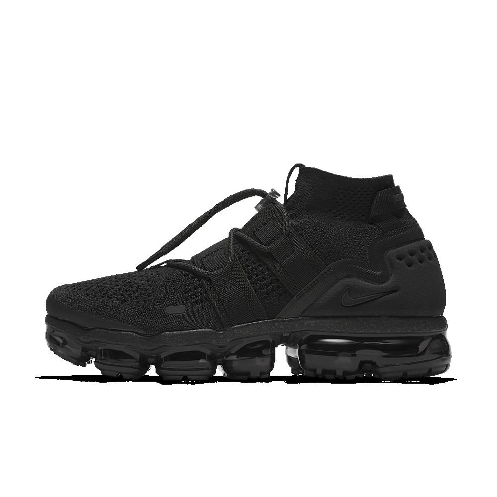 Nike Air VaporMax Flyknit Utility Running Shoe Size 9 (Black)