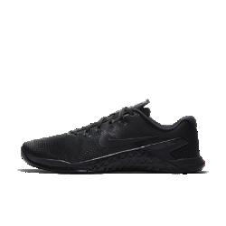 Мужские кроссовки для тренинга Nike Metcon 4Мужские кроссовки для тренинга Metcon 4 обеспечивают потрясающую стабилизацию, гибкость, поддержку и прочность для тренировок разных видов — от коротких пробежек и толкания гимнастических салазок до тяжелой атлетики и упражнений на канате.  Превосходная прочность  Представляем самую прочную версию Metcon. Инновационный текстурированный принт делает всю конструкцию более прочной, так что твои кроссовки выдержат любые испытания.  Гибкость и поддержка  Скрытая подошва более твердая в области пятки и более мягкая в передней части, что обеспечивает стабилизацию для поднятия веса, а также гибкость и амортизацию для коротких забегов.  Прочность и стабилизация  Плоская устойчивая платформа позволяет чувствовать поверхность под ногами во время упражнений с весом и высокоинтенсивных тренировок.<br>