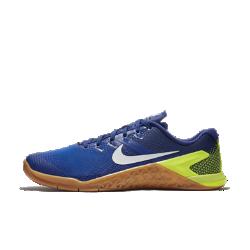 Мужские кроссовки для кросс-тренинга и тяжелой атлетики Nike Metcon 4Мужские кроссовки для кросс-тренинга и тяжелой атлетики Metcon 4 обеспечивают потрясающую стабилизацию, гибкость, поддержку и прочность для тренировок разных видов —от коротких пробежек и толкания салазок до тяжелой атлетики и упражнений на канате.Новая текстурированная сетка делает эту модель самой прочной и легкой в линейке Metcon.  Превосходная прочность  Представляем самую прочную версию Metcon. Инновационный текстурированный принт делает всю конструкцию более прочной, так что твои кроссовки выдержат любые испытания.  Гибкость и поддержка  Скрытая подошва более твердая в области пятки и более мягкая в передней части, что обеспечивает стабилизацию для поднятия веса, а также гибкость и амортизацию для коротких забегов.  Прочность и стабилизация  Плоская устойчивая платформа позволяет чувствовать поверхность под ногами во время упражнений с весом и высокоинтенсивных тренировок.<br>