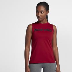 Женская майка для тренинга Nike ProЖенская майка для тренинга Nike Pro из влагоотводящей ткани обеспечивает вентиляцию и комфорт во время тренировок.<br>