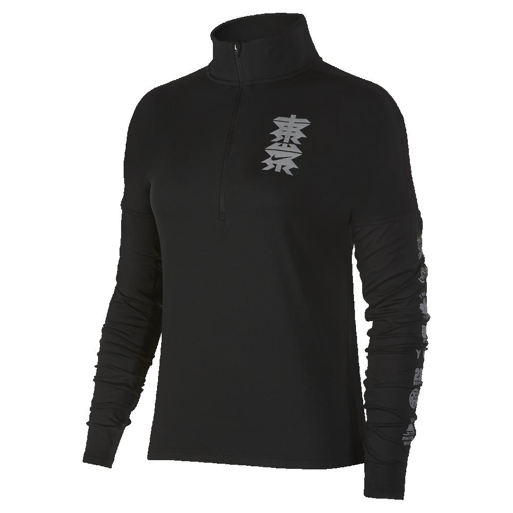 セール!<ナイキ(NIKE)公式ストア> ナイキ Dri-FIT エレメント (Tokyo) ウィメンズ ハーフジップ ランニングトップ AH9357-010 ブラック ★30日間返品無料 / Nike+メンバー送料無料