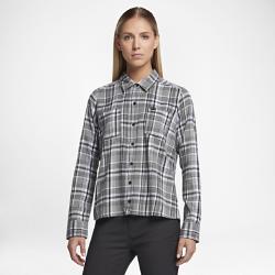 Женская рубашка Hurley WilsonЖенская рубашка Hurley Wilson из мягкого хлопка с застежкой на пуговицах обеспечивает удобную посадку и создает классический образ.<br>