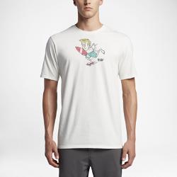 Мужская футболка Hurley Surfs UpМужская футболка Hurley Surfs Up с приятным на ощупь ярким принтом в технике трафаретной печати обеспечивает комфорт на весь день.<br>